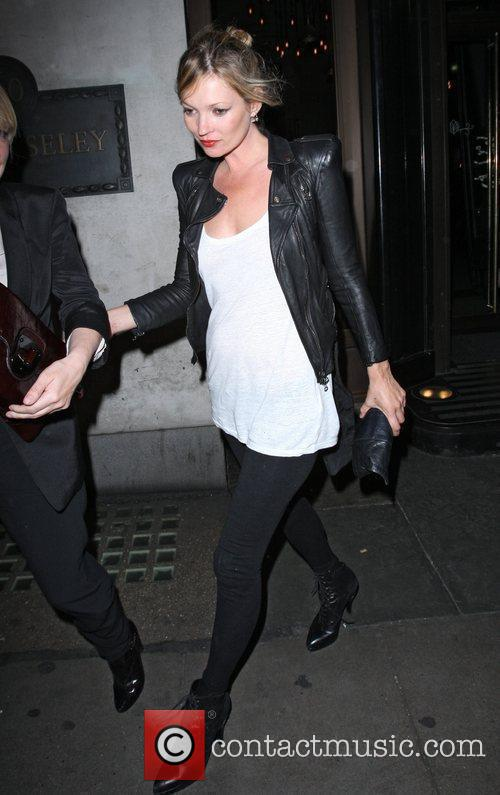 Kate Moss leaving The Wolseley in a black...