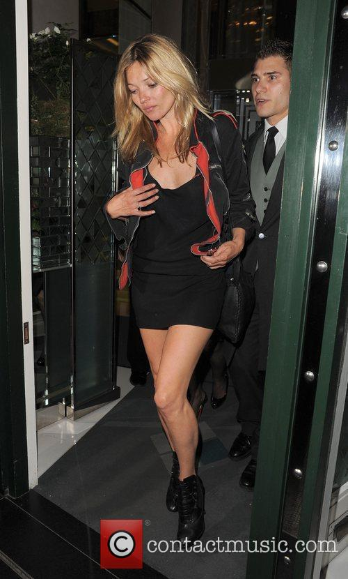 Kate Moss  leaving the Ivy Club at...
