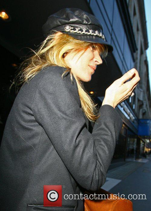 Kate Moss leaving an office after a business...