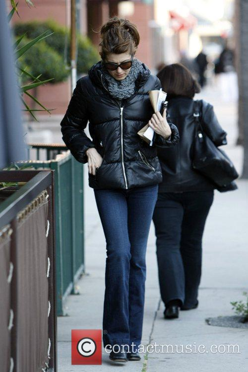 Kate Walsh leaving a medical centre on Bedford...