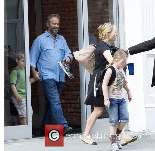 Kate Winslet, Sam Mendez With Children Mia and Joe 6
