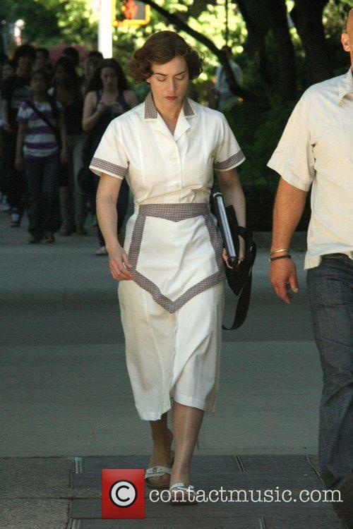 Kate Winslet  on the movie set of...