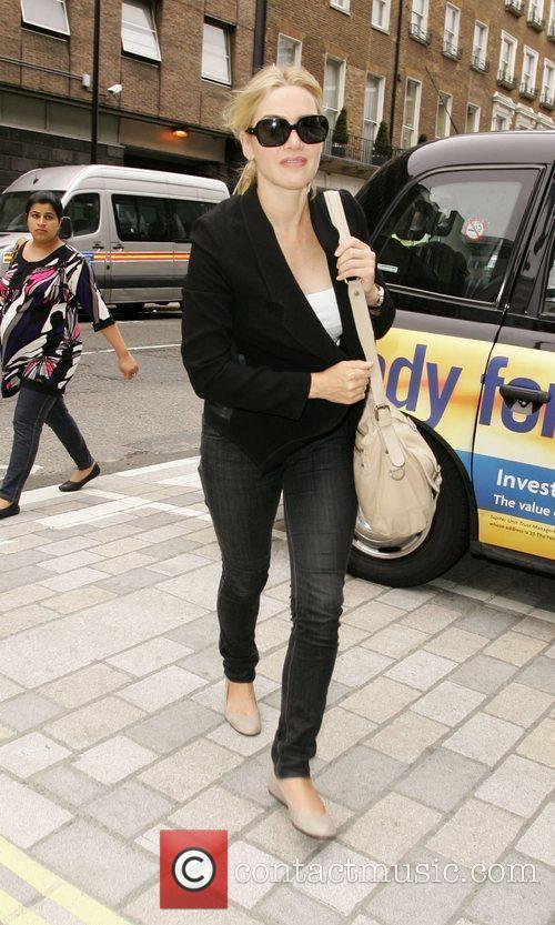 Leaving her London hotel