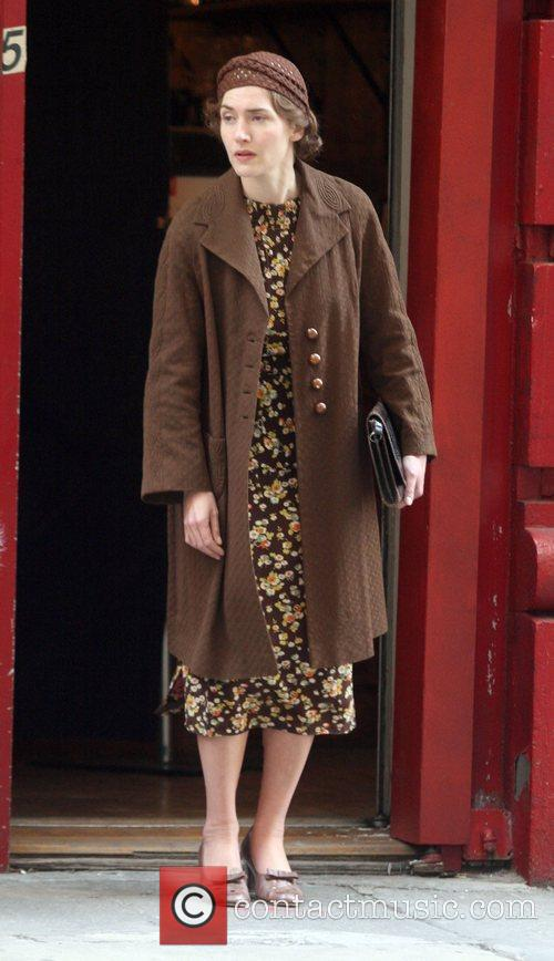 Actress Kate Winslet on her first day of...