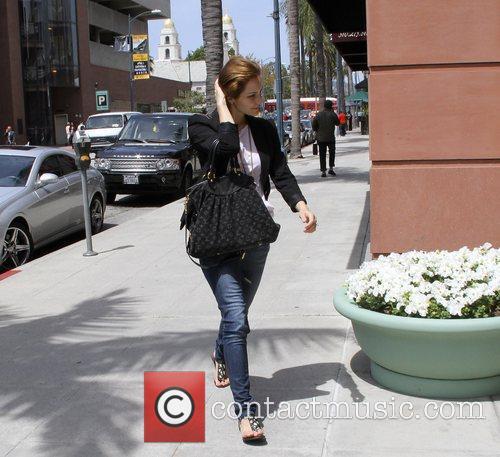 Katharine McPhee leaving Anastacia salon in Beverly Hills...