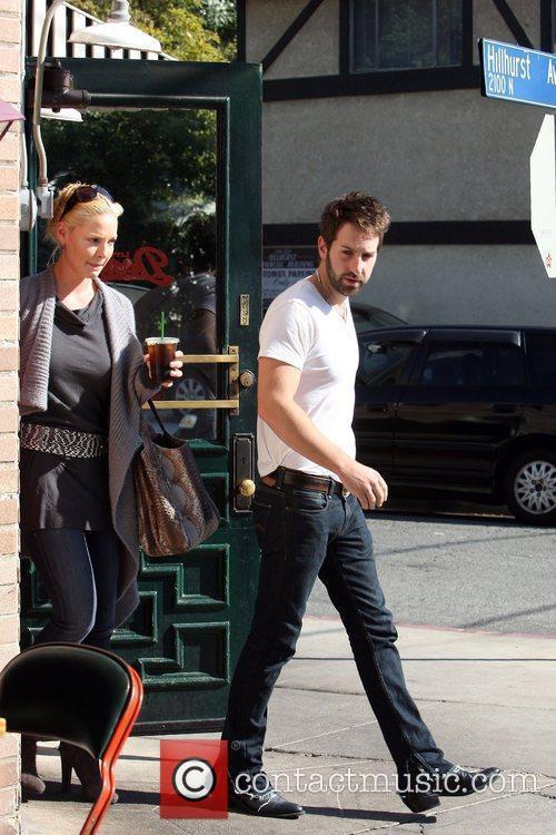Katherine Heigl and her husband Josh Kelly leaving...
