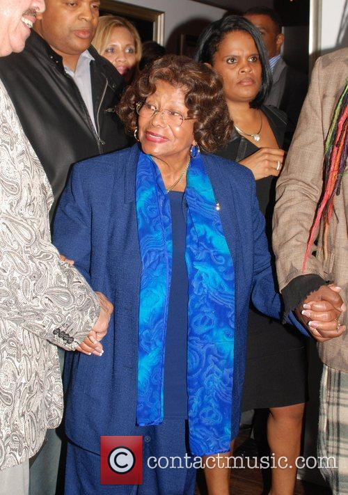 Katherine Jackson leaves the release party for her...