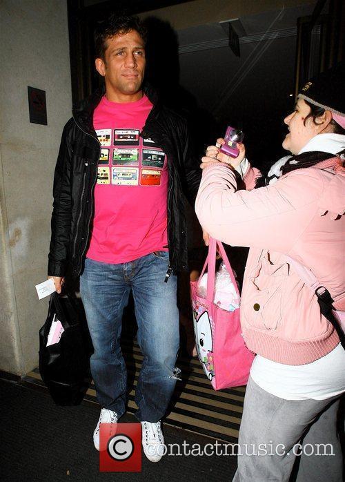 Alex Reid  with celebrity hugger Tania Mcintosh...