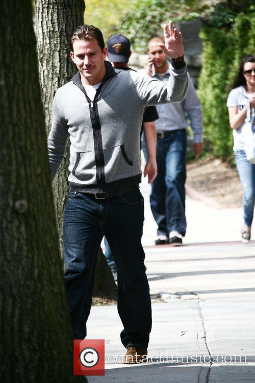 Channing Tatum on the set of his new...