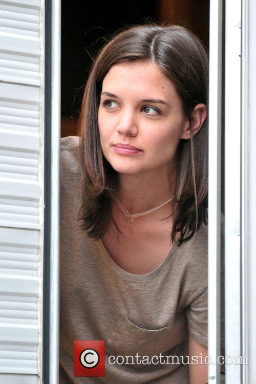 Katie Holmes on the set of her new...