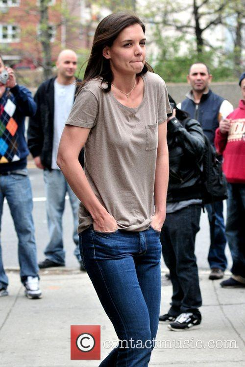 On the set of her new movie 'Son...