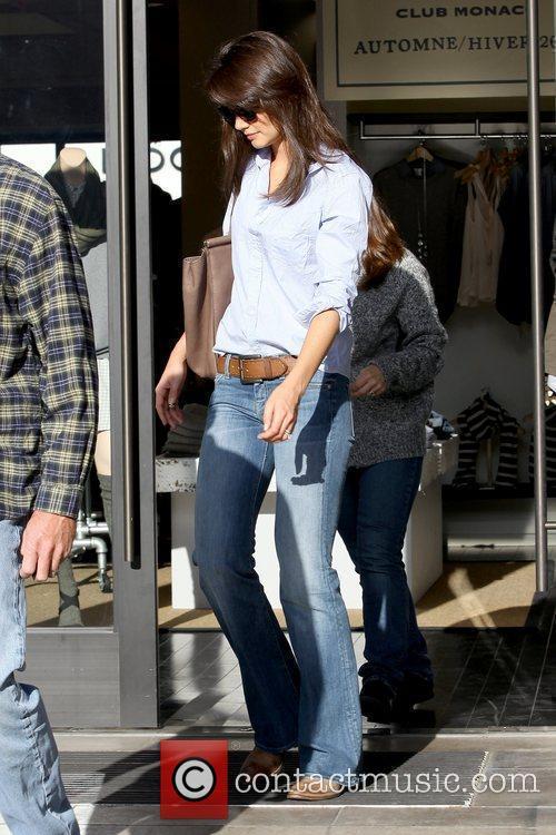 Katie Holmes leaving Club Monaco in Beverly Hills...
