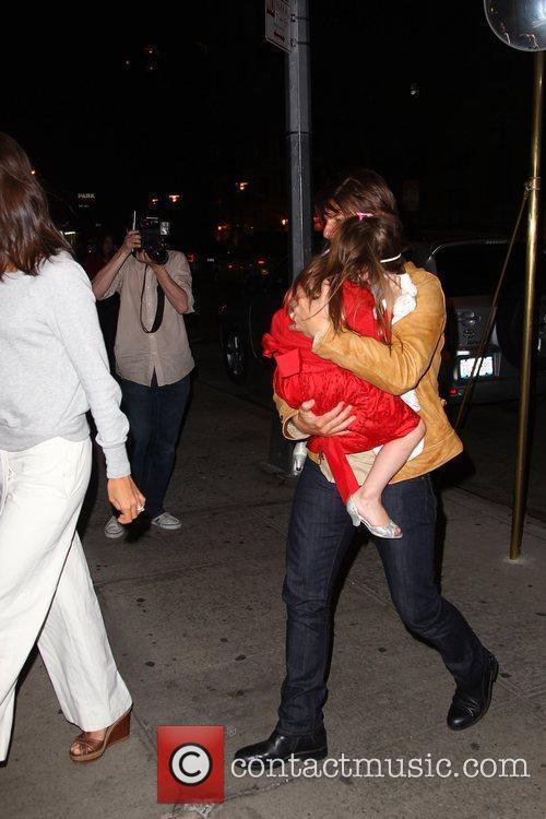 Katie Holmes and Tom Cruise arrive at a...