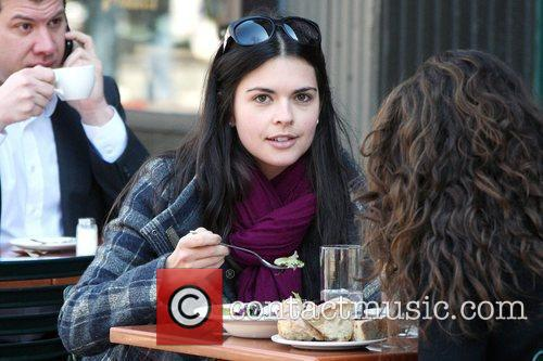 Katie Lee eating lunch with a friend at...