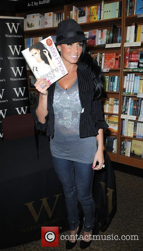 Katie Price promoting her new book 'Standing Out'...