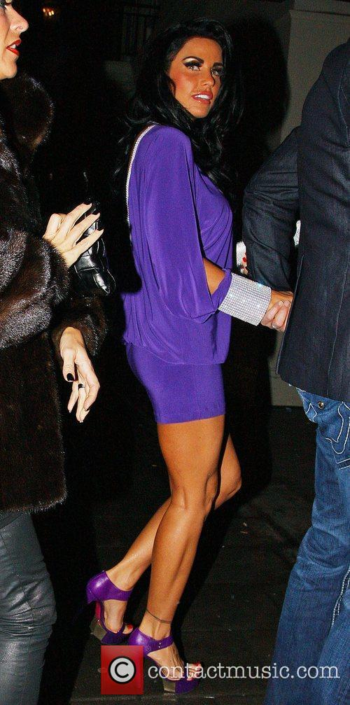 Katie Price, aka Jordan, arriving at Mayfair Hotel