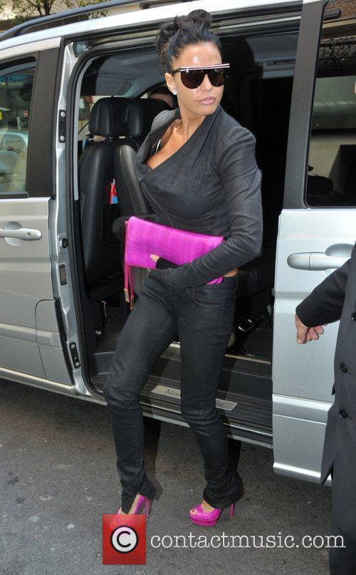 Katie Price, aka Jordan, arriving at a Central...