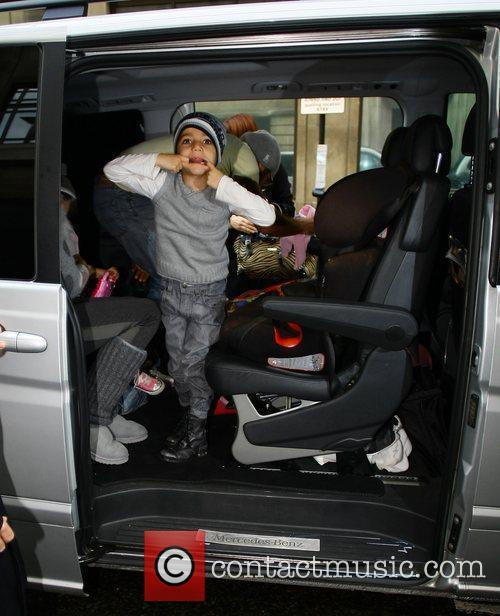 Junior Andre arriving at the BBC Radio 2...