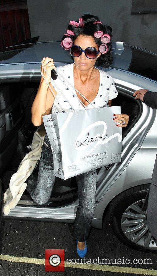 Katie Price arrives at The Riverside Studios with...