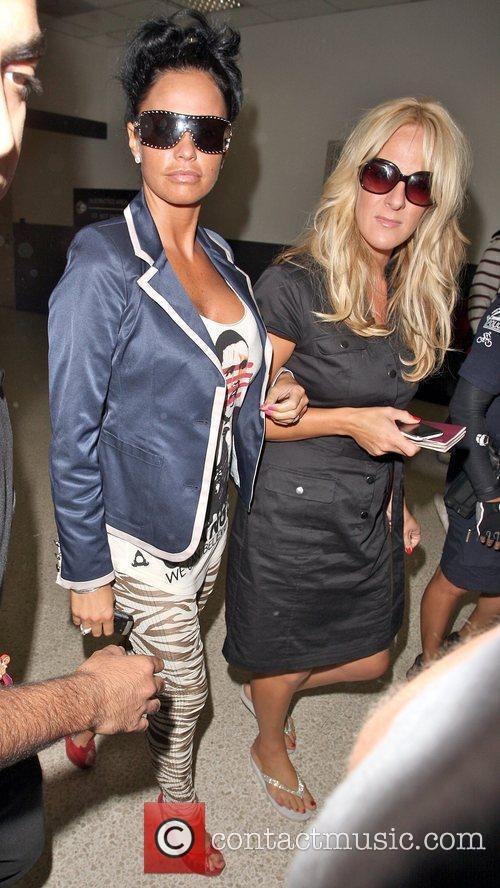 Katie Price  at LAX on a Virgin...