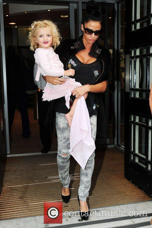 Katie Price and her daughter Princess Tiaamii the...