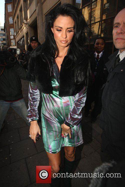 Katie Price, aka Jordan, leaving the BBC Radio...