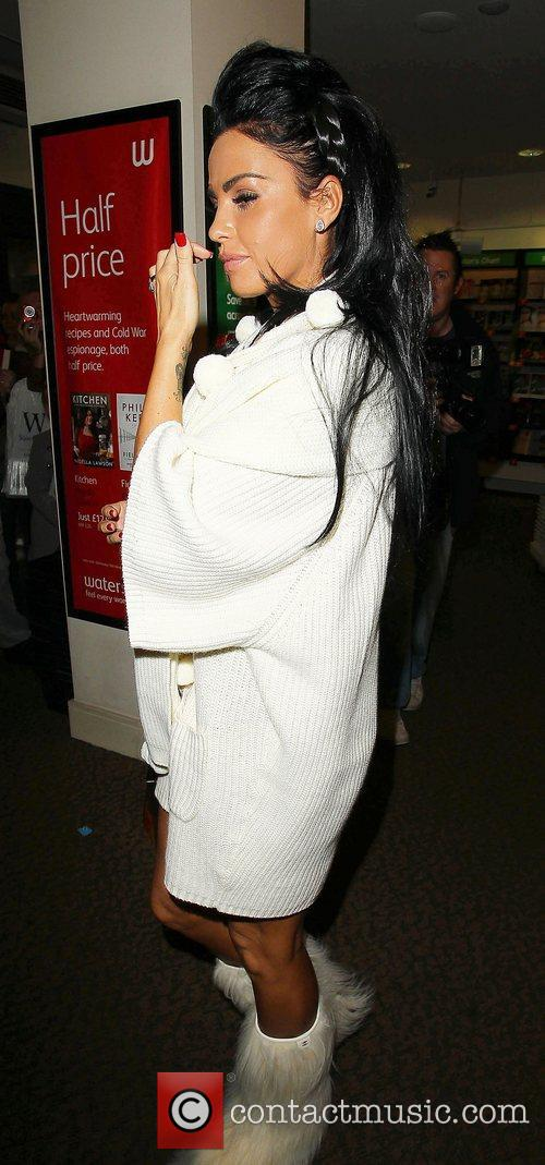 Katie Price arrives at Waterstones Preston to promote...