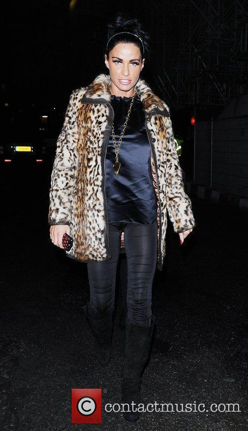 Katie Price, Aka Jordan and Wearing An Animal Print Coat On Her Night Out 9