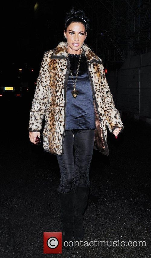 Katie Price, Aka Jordan and Wearing An Animal Print Coat On Her Night Out 3