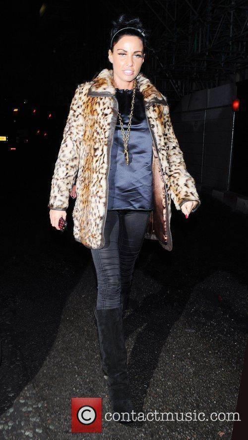 Katie Price, Aka Jordan and Wearing An Animal Print Coat On Her Night Out 2