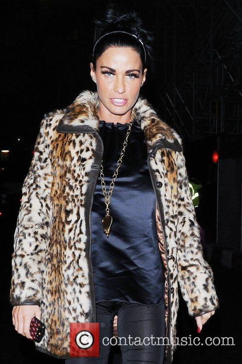 Katie Price, Aka Jordan and Wearing An Animal Print Coat On Her Night Out 11