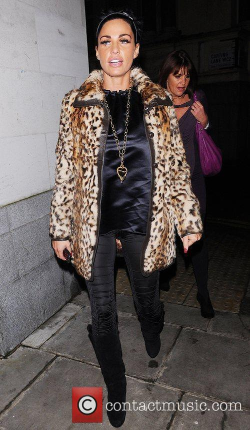 Katie Price, Aka Jordan and Wearing An Animal Print Coat On Her Night Out 6