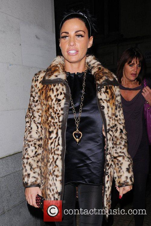 Katie Price, Aka Jordan and Wearing An Animal Print Coat On Her Night Out 5
