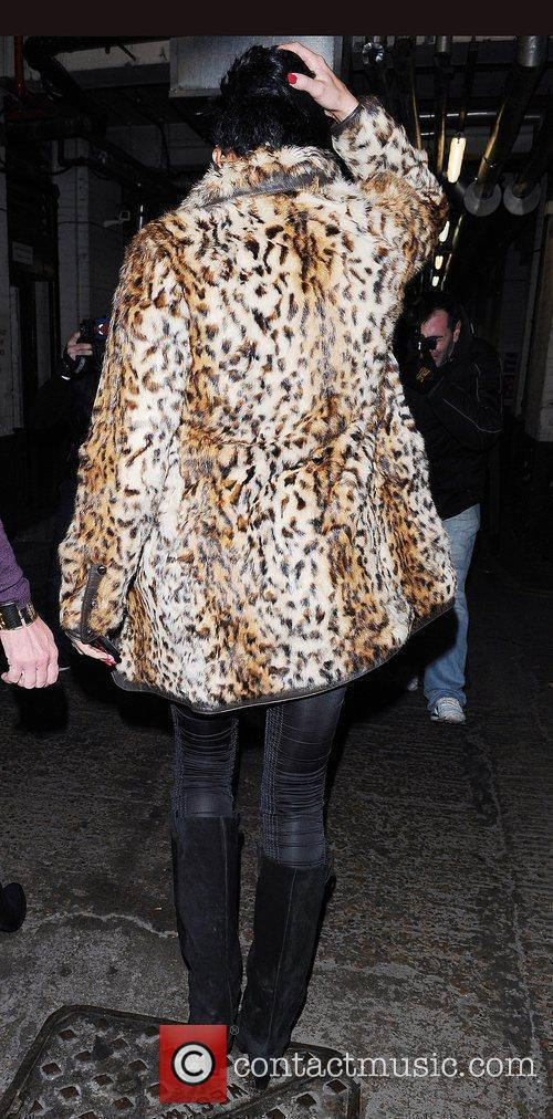 Katie Price, Aka Jordan and Wearing An Animal Print Coat On Her Night Out 4
