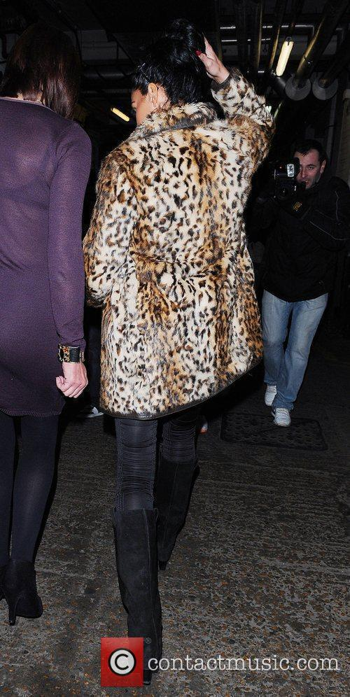 Katie Price, Aka Jordan and Wearing An Animal Print Coat On Her Night Out 1