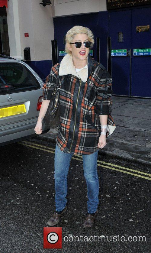 Katie Waissel in central London after having a...