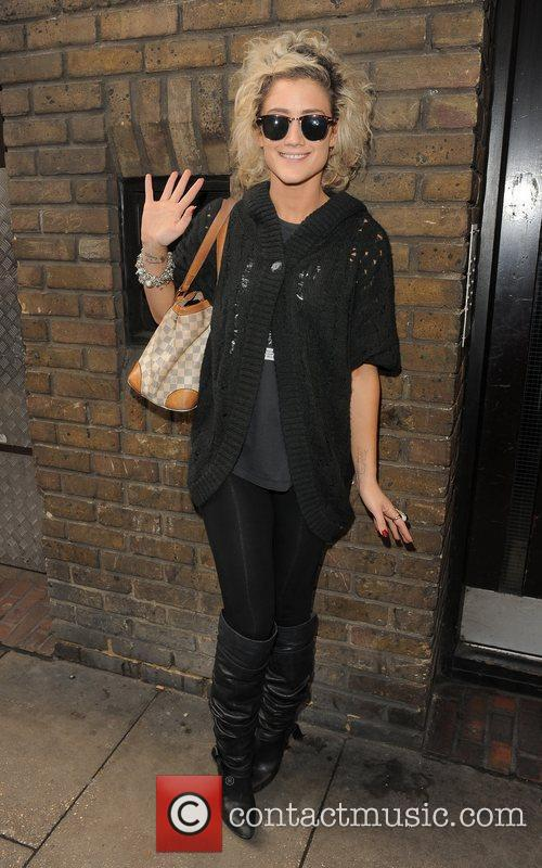 X Factor finalist Katie Waissel leaves the gym...