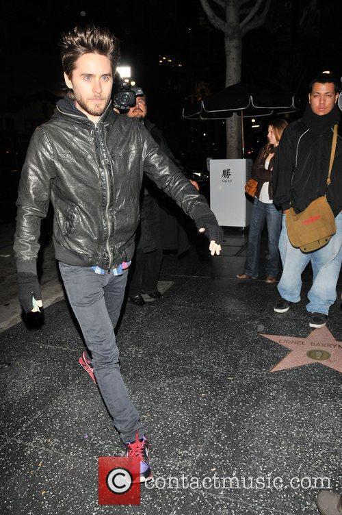 Jared Leto leaving Katsu-Ya restaurant Los Angeles, California