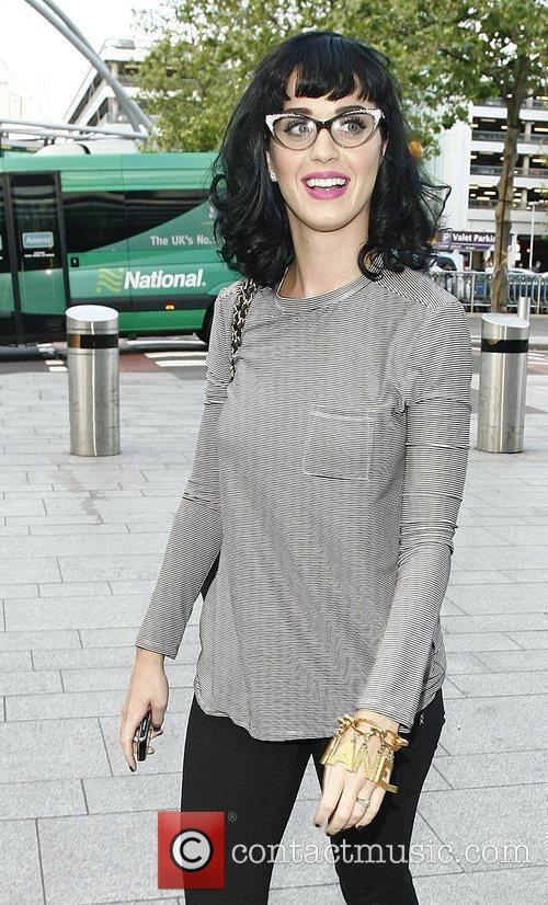 Katy Perry at Heathrow airport London, England