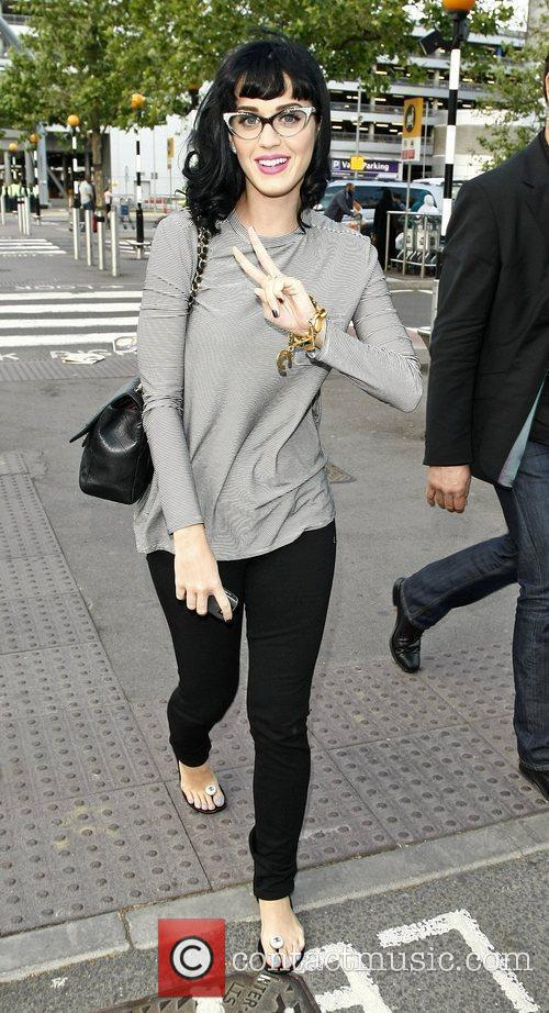 Katy Perry at Heathrow airport