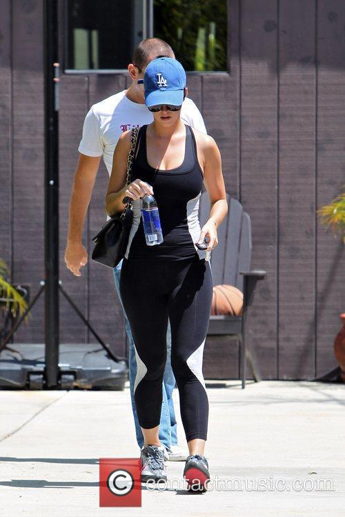 Katie Perry  seen leaving the gym with...