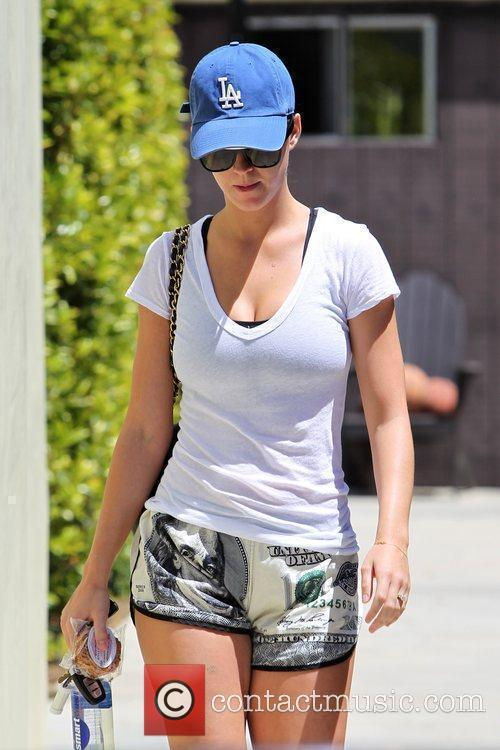 Katy Perry  seen leaving the gym wearing...