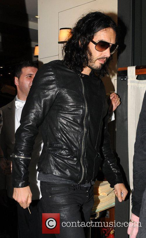 Russell Brand and Katy Perry leave C London...