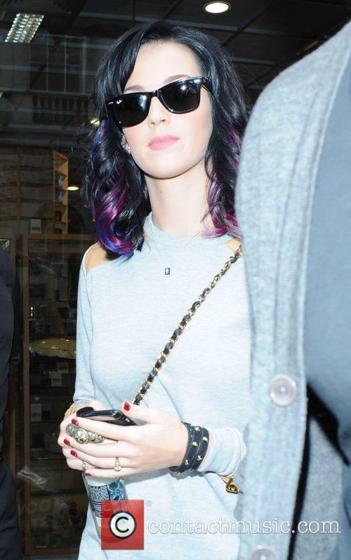 Katy Perry leaving 'Dover Street Market' in Mayfair...