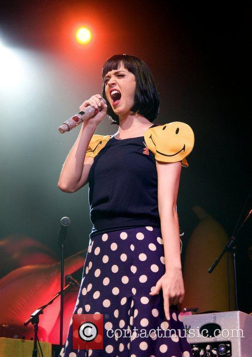 Katy Perry performs at Manchester Academy 1 on...