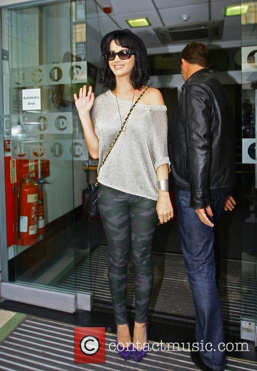 Katy Perry outside the Radio 1 building London,...