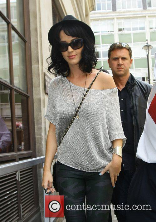 Katy Perry outside the Radio 1 building