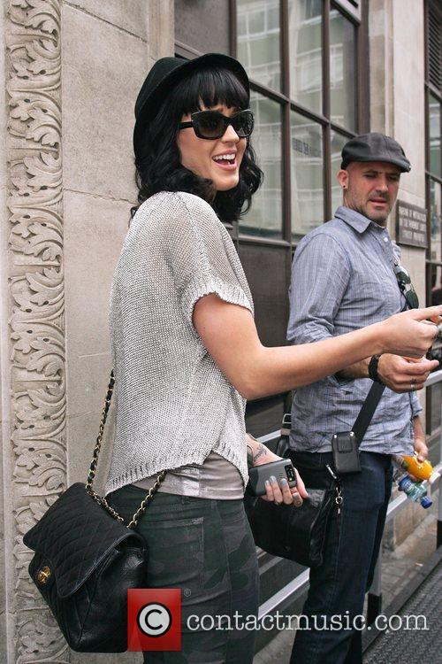 Katy Perry leaving Radio one studios London, England