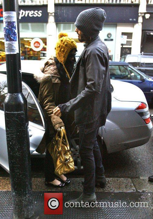 Russell Brand and Katy Perry leave Russell's North...