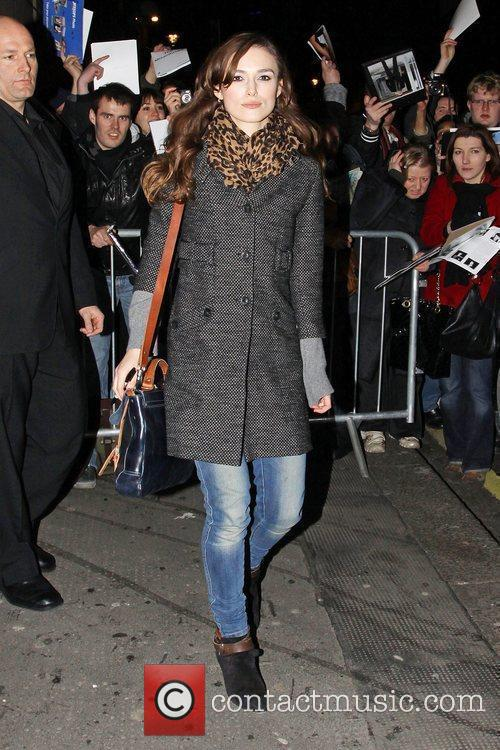 Leaving the Comedy Theatre after she performed in...